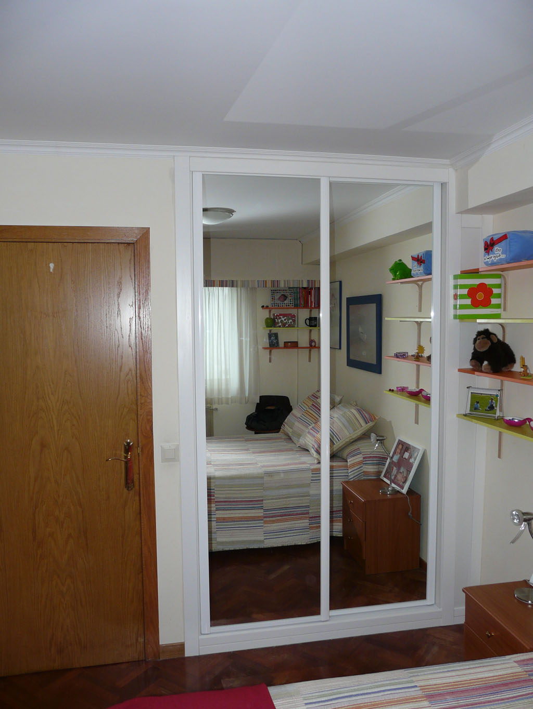 Decorar cuartos con manualidades armarios blancos con espejo - Espejos para armarios ...