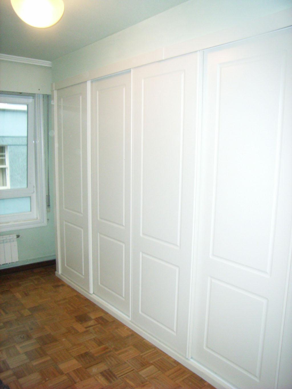 serie lisa armario lacado blanco