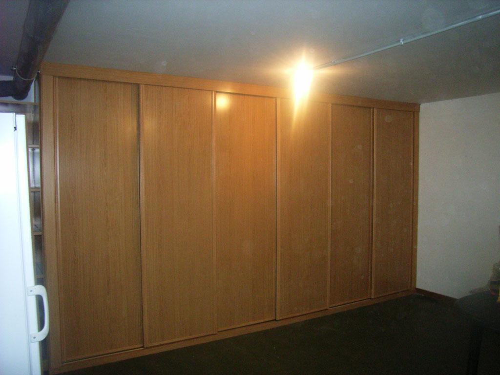 Serie lisa armario roble melamina de 6 puertas - Puerta de roble ...