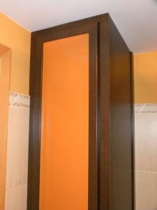armario wengue con lacobel naranja