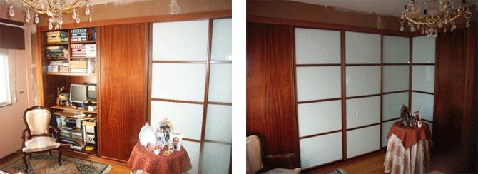 Oficina integrada en armario