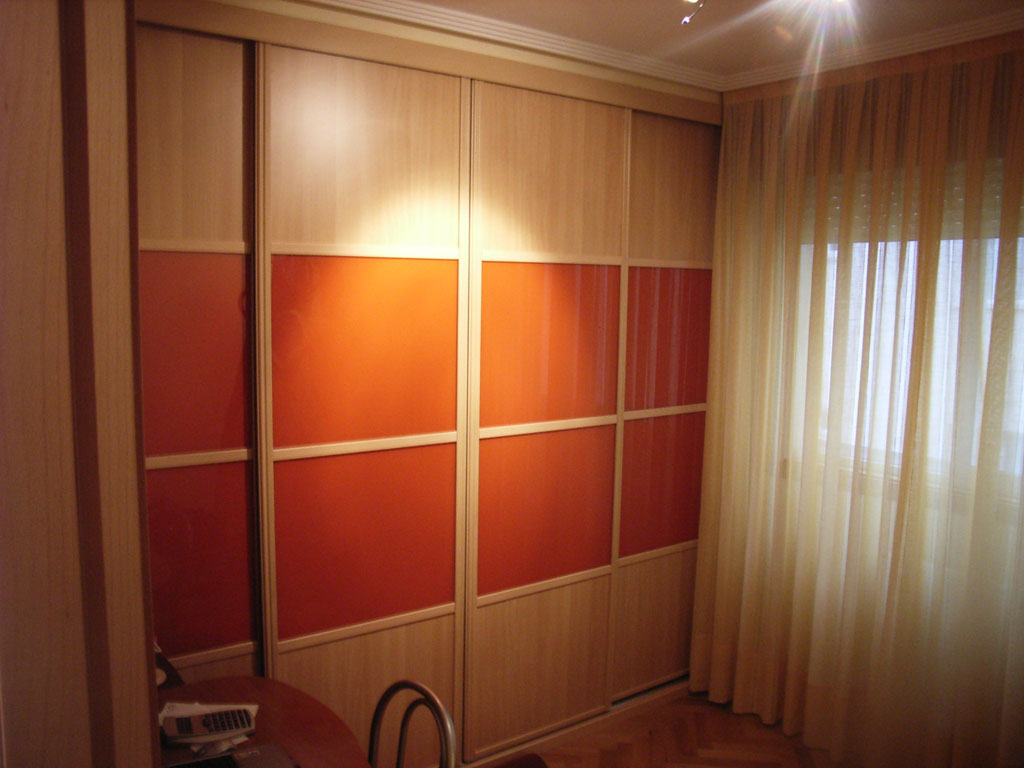 Armario melamina haya cristal naranja 2