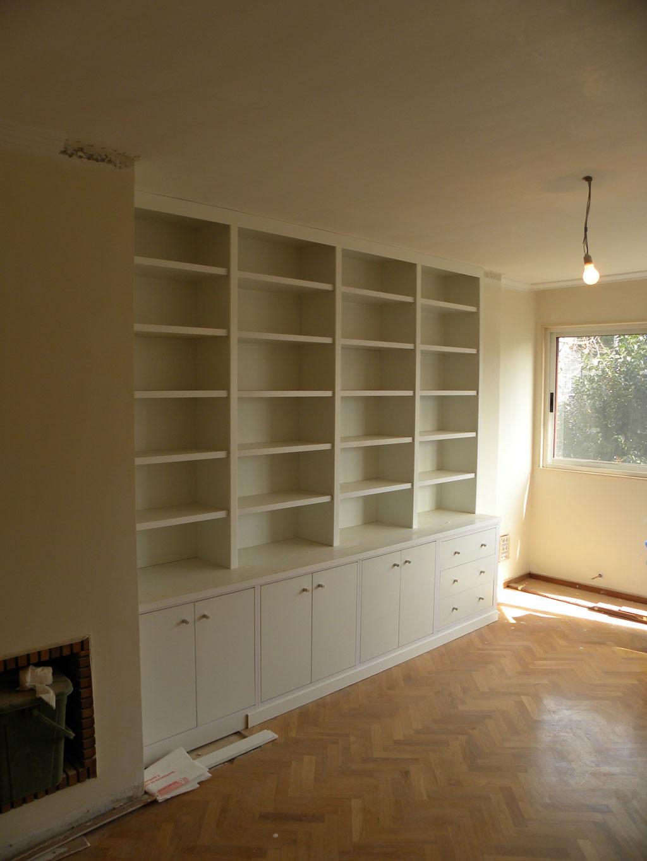 Librería melamina blanca