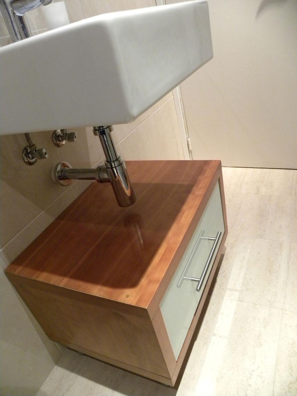 modulo bajo lavabo en cerezo lacobel blanco